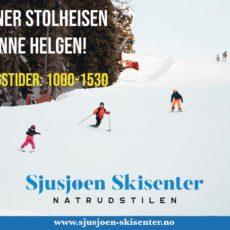 Sjusjøen Skisenter har supre forhold og alle ønskes velkommen til fine dager i bakken!