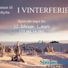 Brannhytta er åpen i vinterferien!